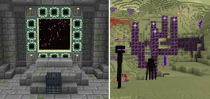 The End Stronghold Creation Minecraft PE Maps