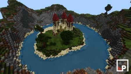 island on land