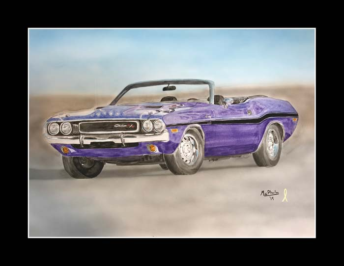 1970 Dodge Challenger R/T painting by Jeff McPhail