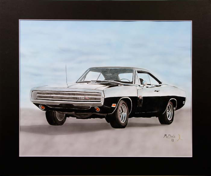 1970 Dodge Charger R/T painting by Jeff McPhail