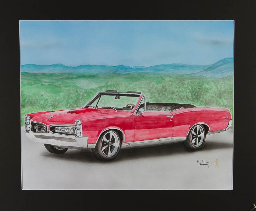 1965 Pontiac GTO Convertible watercolor