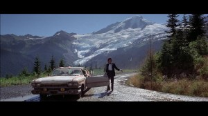 "Dwarfed by the mountains in ""The Deer Hunter"""
