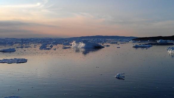 Midnight at Ilulissat, Greenland