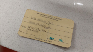 Front of MCPL Library Card from 1967