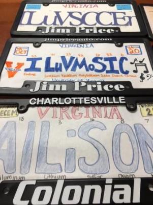 MCHS License Plates