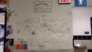 Poster Showing Continents for Passport to Success Program