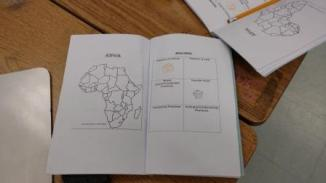 Passport With Picture of Africa
