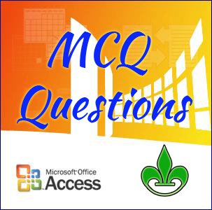 ms access mcq questions banner logo