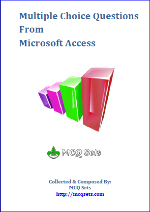 MS Access MCQ Questions Bank cover page
