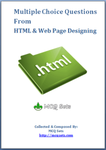 Download MCQ Questions Bank for HTML [PDF]