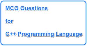 Solved C++ MCQs Set 03