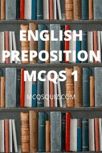 English Preposition Mcqs 1
