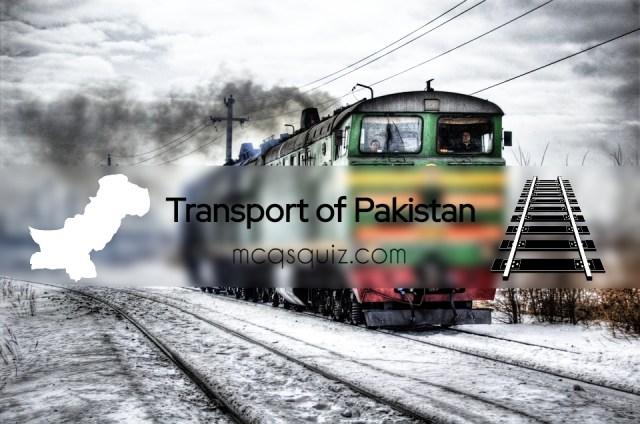 Transport of Pakistan Mcqs