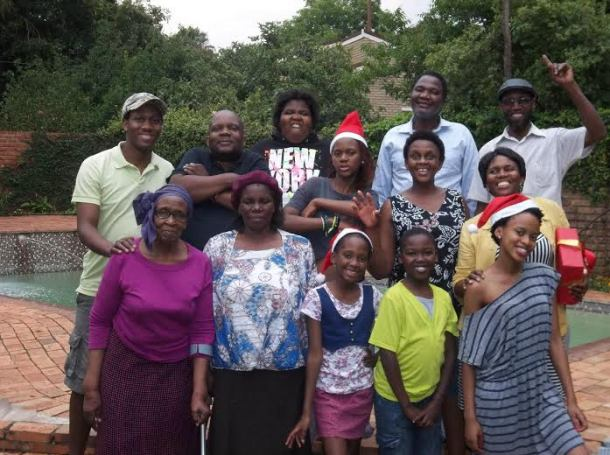 Thwala and his family. Photo courtesy of Kevin Thwala.