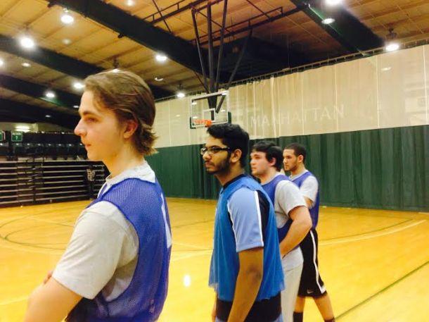 The 10-man suite's intramural team. Photo by Sean Sonneman.