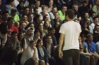 Comedian and SNL sketch actor Brooks Wheelan performed in front of a crowd of students Saturday night. Photo by James O'Connor.