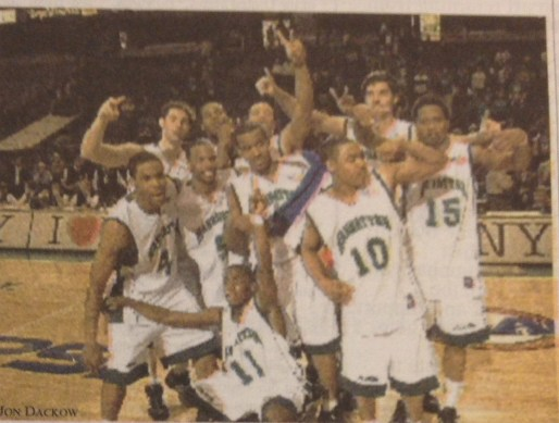 The 2004 Manhattan team won back-to-back MAAC championships in the 2002-2003 and 2003-2004 seasons. Photo courtesy of The Quadrangle archives.