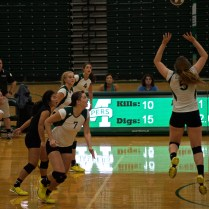The volleyball team faces off against Siena on Sunday. Photo by Kevin Fuhrmann