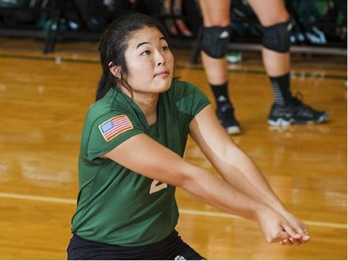 Allie Yamashiro, the MVP of the La Salle Invitational, led Manhattan to its first 3-0 start in program history. Photo courtesy of gojaspers.com.