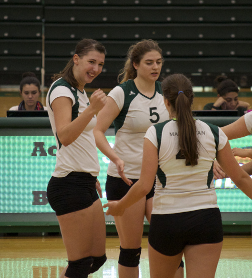 As of noon on Oct. 12, the volleyball team has won three games in a row. Photo by James O'Connor.
