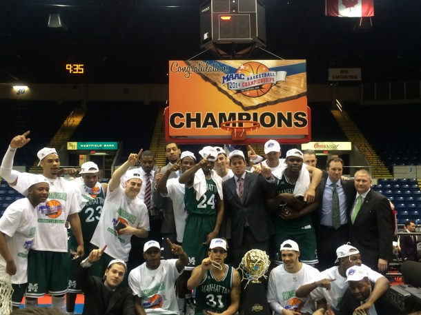 The Jaspers won its first MAAC Championship in 10 years last season. Who will hoist the trophy this season? Photo taken by Chris Cirillo.