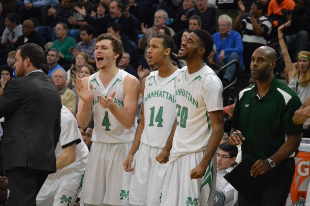 It was an all around team effort for Manhattan, which had five players score in double figures. Photo by Kevin Fuhrmann.
