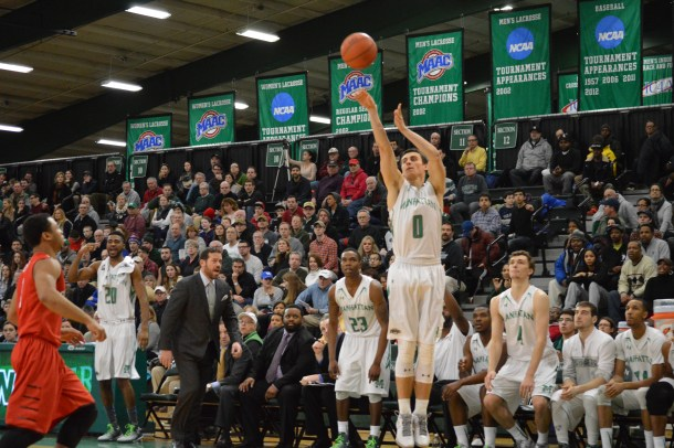 Shane Richards exploded for 20 points in the second half en route to a 79-70 victory. Photo by Kevin Fuhrmann.