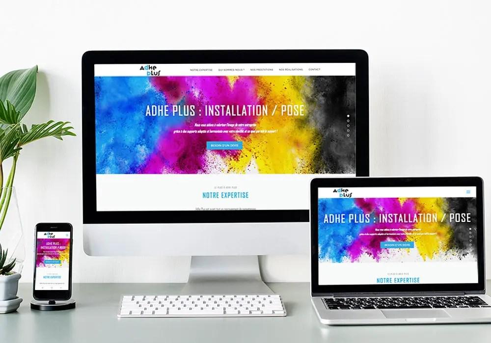 Création du site Adheplus- web designer