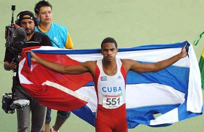 El velocista Roberto Skyers por primera vez en una olimpiada