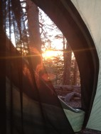 Baden Powell sunset from the tent