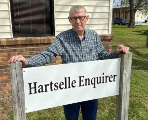 Clift Knight at the Hartselle Enquirer