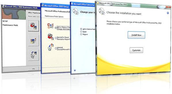 Experiência de instalação do Microsoft Office