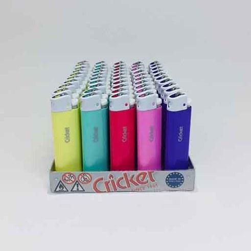 Cricket Uzun Taşlı Pastel Renk Çakmak (50adet)