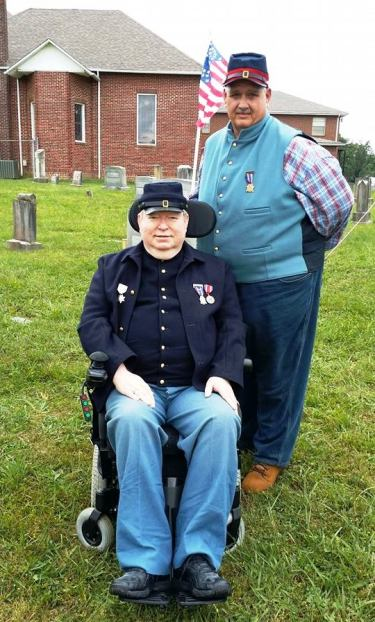 Camp Commander David McReynolds with Junior Vice Commander Richard Holmes