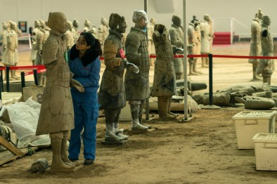Pictures of Warrior Excavation in Xian China by Mary Catherine Messner