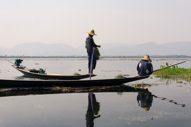 Pictures of Fishermen on Inle Lake Myanmar Burma with TCS World Travel Uncharted Myanmar trip by mcmessner Mary Catherine Messner