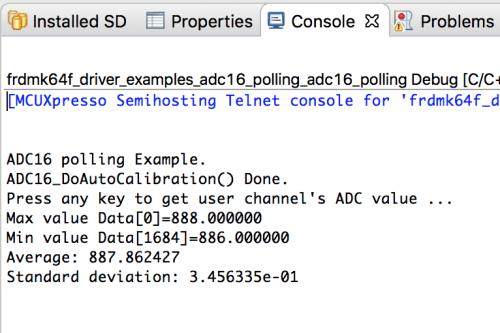 Measurement result in case of ADC interrupt