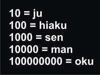 numeros en japon