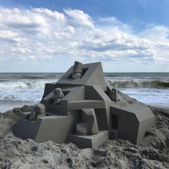 Brutalist sandcastle