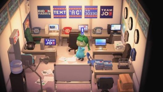 Biden HQ in Animal Crossing
