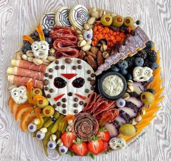 Halloween charcuterie board by Petal & Platter