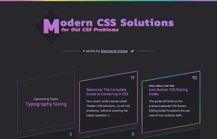 Modern CSS Solutions