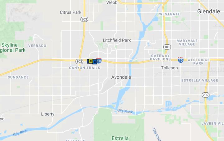16092 W Culver St, Goodyear AZ 85338  comps map