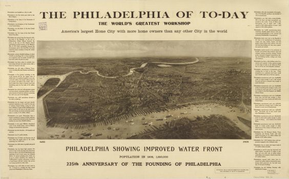 """1908 Article from Executive Committee of Founders Week. Title reads: """"The Philadelphia of Today, the World's Greatest Workshop"""""""
