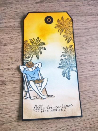 tag Stampin up palmier kit un bon gars et le set de tampon tropiques éternels de Stampin up feutre à alcool