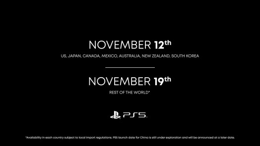 PS5 Launch Date