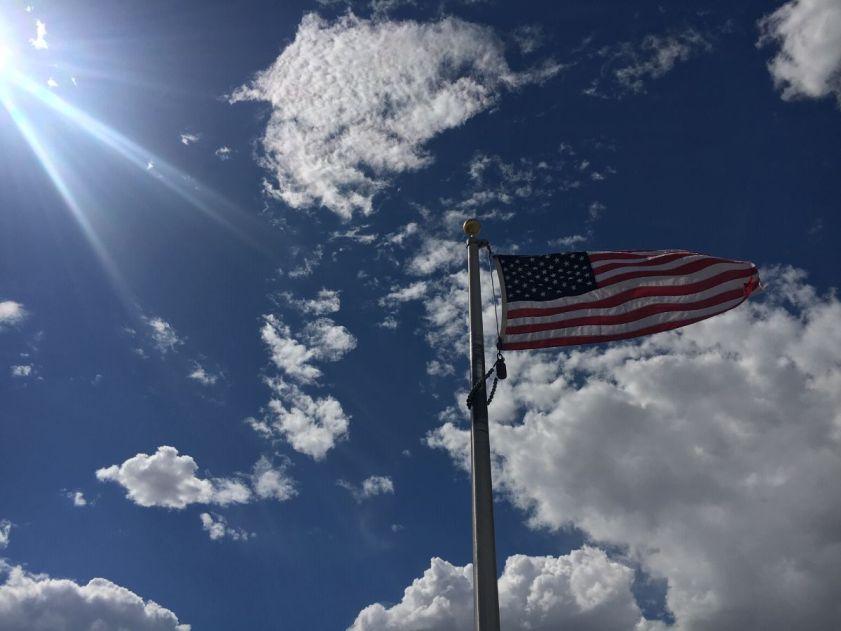 U.S. flag at Topaz