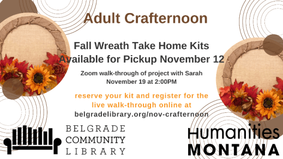 November Adult Crafternoon - Fall Wreaths
