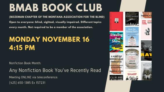MT Association of the Blind Book Club November
