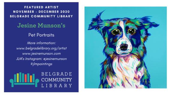 Jesine Munson's Pet Portraits Featured Artist